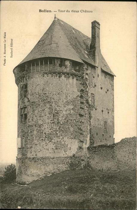 Ballon Sarthe Tour vieux Chateau / Pays de la Loire /Arrond. du Mans