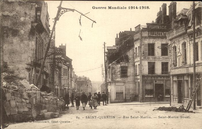 Saint-Quentin Rue Saint-Martin Kat. Saint-Quentin
