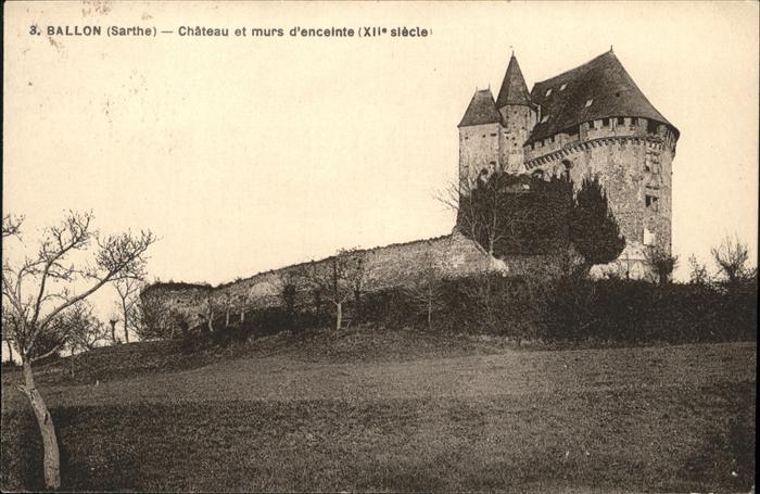 Ballon Sarthe Chateau  / Pays de la Loire /Arrond. du Mans