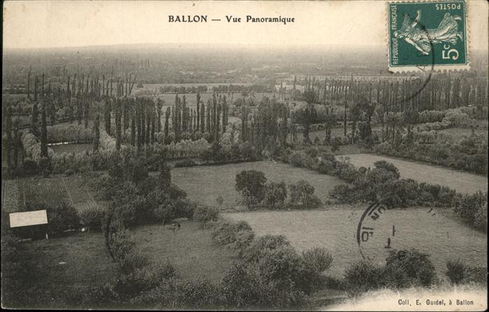 Ballon Sarthe Vue Panoramique / Pays de la Loire /Arrond. du Mans