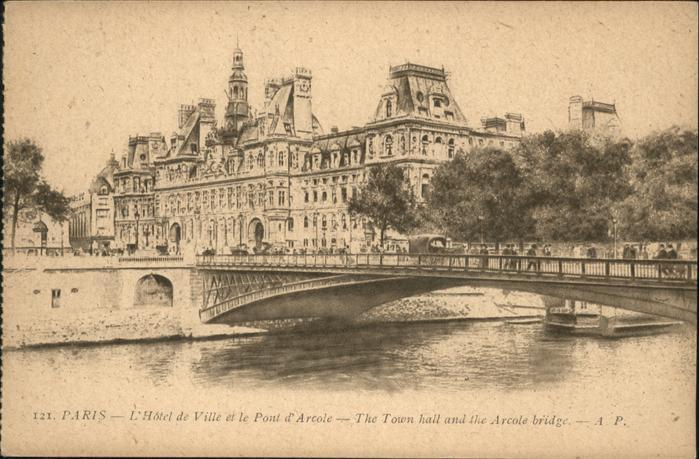 Paris Hotel de Ville Hotel de Ville Pont Arcole Kat. Paris