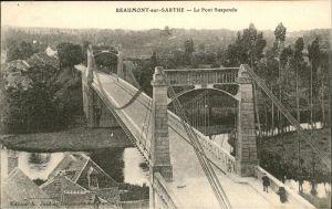 Beaumont-sur-Sarthe Pont Suspendu Kat. Beaumont-sur-Sarthe