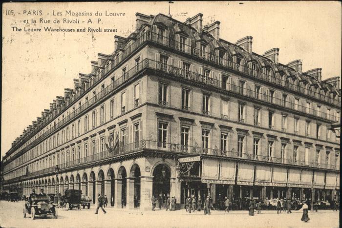 Paris les Magasins du Louvre Rue de Rivoli Kat. Paris