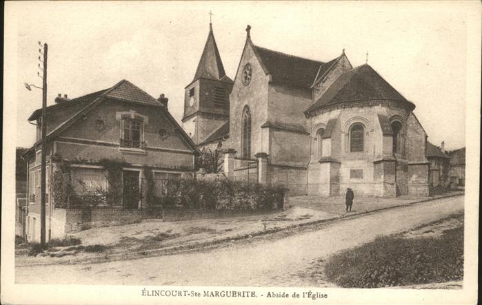 Elincourt-Sainte-Marguerite Abside Eglise Kat. Elincourt-Sainte-Marguerite