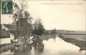 Nogent-le-Rotrou L Huisne Pont de Bois Kat. Nogent-le-Rotrou