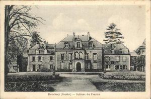 Donchery Schloss Faucon Kat. Donchery