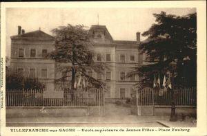 Villefranche-sur-Saone Ecole Jeunes Filles Place Fauberg Kat. Villefranche-sur-Saone