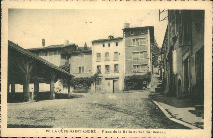 La Cote-Saint-Andre Place Halle Chateau Kat. La Cote-Saint-Andre