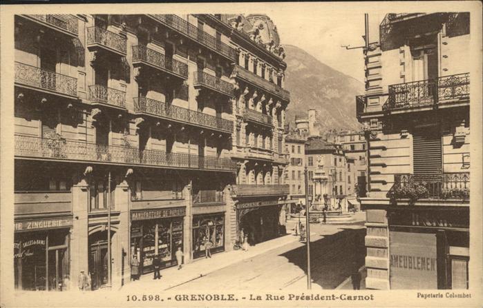 Grenoble Rue President Carnot Kat. Grenoble