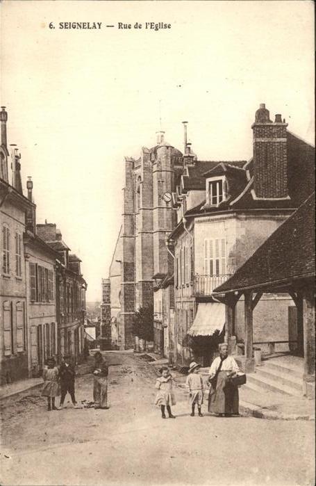 Seignelay Rue de Eglise Kat. Seignelay