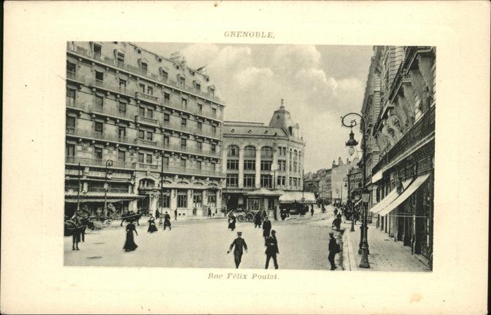Grenoble Rue Felix Poulat Kat. Grenoble