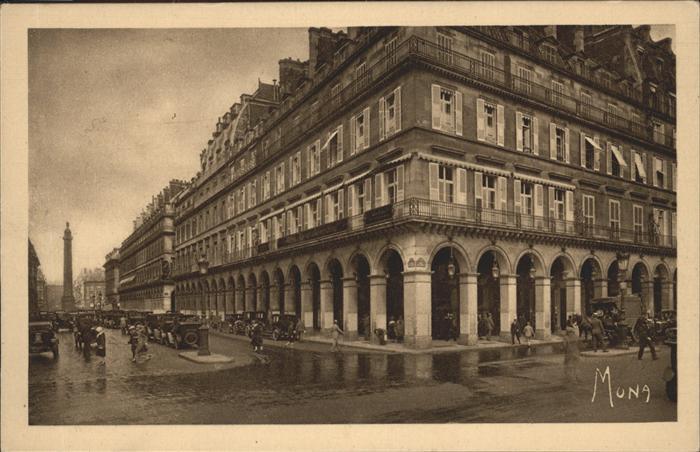 Paris Rue de Castiglione Rue de Rivoli Kat. Paris