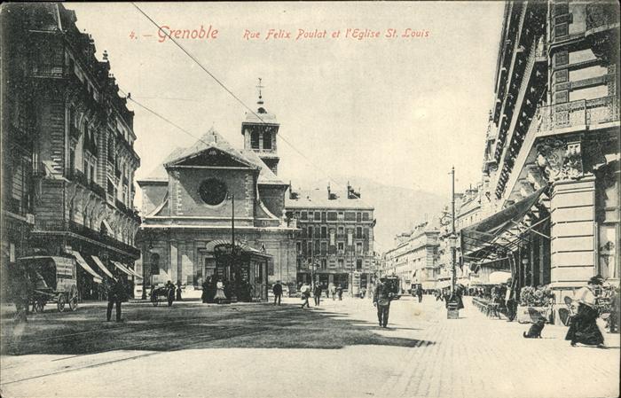 Grenoble Rue Felix Poulat Eglise St. Louis Kat. Grenoble