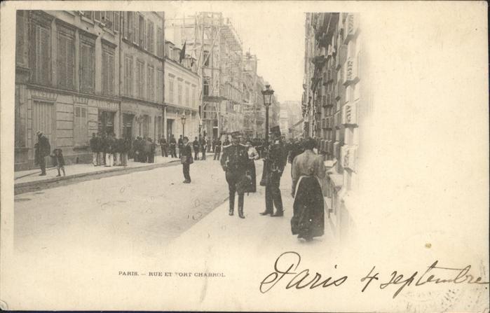 Paris Rue et Fort Chabrol Kat. Paris