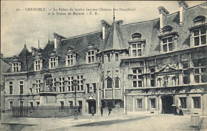 Grenoble Palais de Justice Chateau des Dauphins Statue Kat. Grenoble