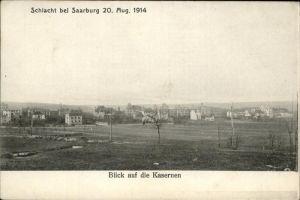 Saarburg Lothringen Schlacht bei Saarburg 20. Aug. 1914 Kasernen Kat. Sarrebourg