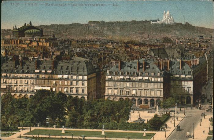 Paris Panorama Montmartre Kat. Paris
