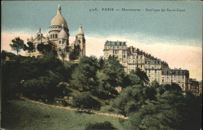 hw17425 Paris Montmarte Sacre-Coeur Kategorie. Paris Alte Ansichtskarten