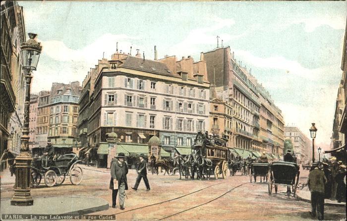 Paris Rue Lafayette Rue Cadet Kat. Paris