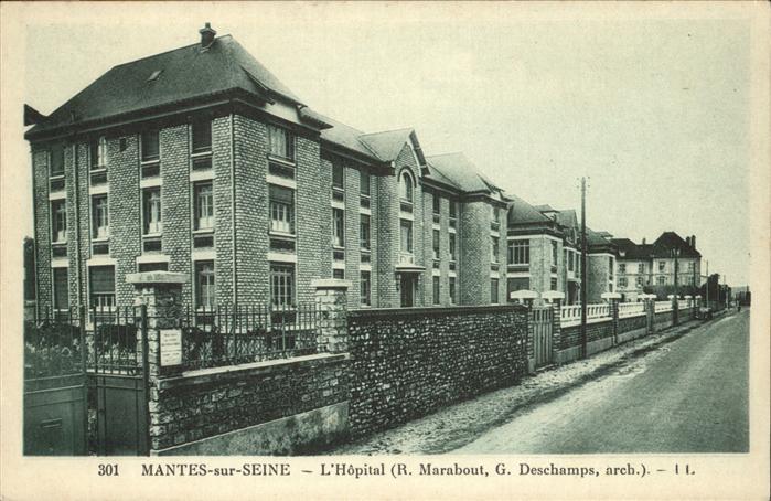 hw17612 Mantes-sur-Seine Hopital  Kategorie. Mantes-la-Jolie Alte Ansichtskarten