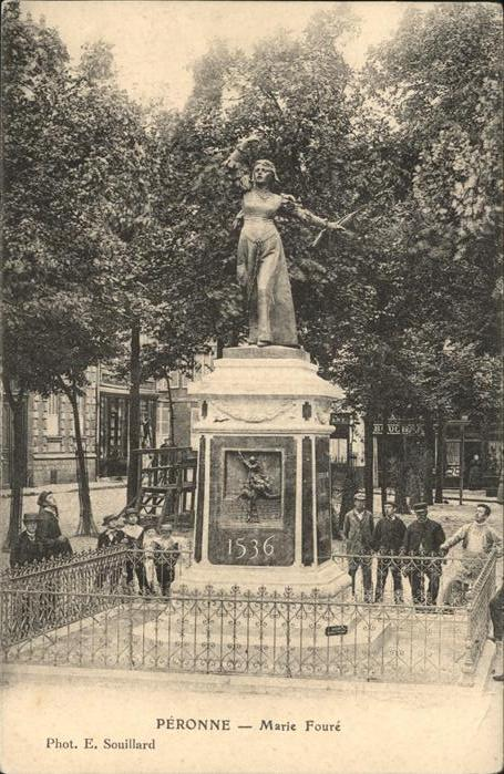 Peronne Somme Marie Foure Denkmal / Peronne /Arrond. de Peronne