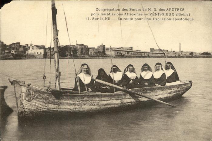kk12407 Venissieux Rhone Congregation des Soeurs de N. D. des Apotres pour les Missions Africaines Ordensschwestern auf Mission Kategorie. Venissieux Alte Ansichtskarten