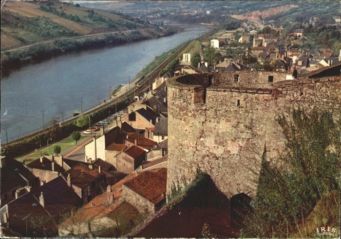 Sierck les Bains Moselle Sur la rive gauche de la Moselle vue du chateau fort