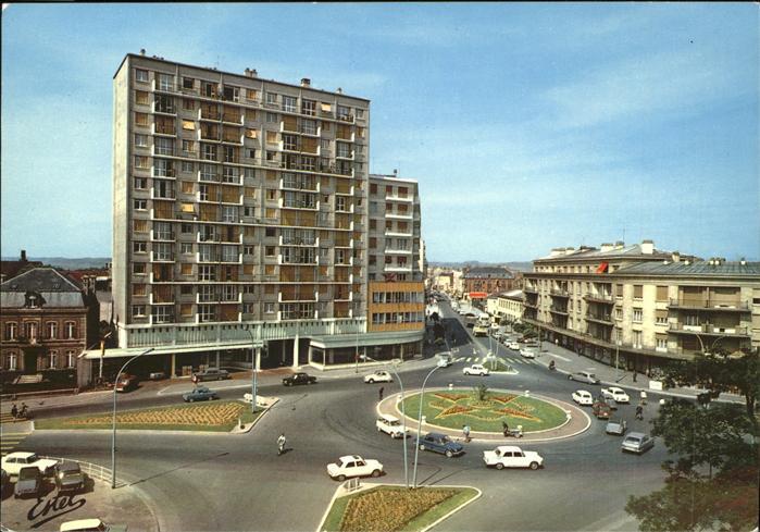 Troyes Aube Place du general Patton et rue Voltaire