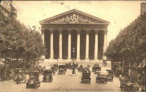Paris La Rue Royale et la Madeleine Eglise Kat. Paris