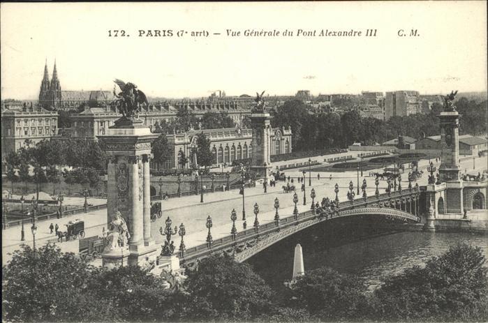 Paris Le Pont Alexandre III Seine Kat. Paris