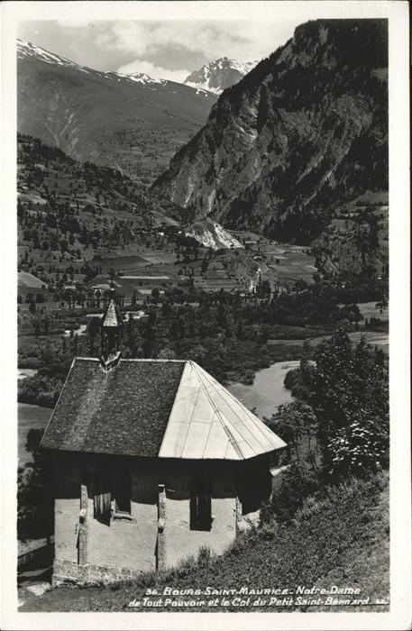 Bourg Saint Maurice Notre Dame de Tout Pouvoir et le Col du Petit Saint Bernard Kat. Bourg Saint Maurice