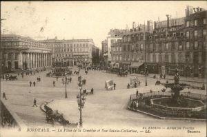 Bordeaux la Place de la Comedie Rue Sainte-Catherine x