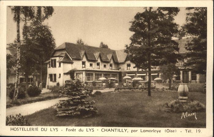Chantilly Hostellerie du Lys Foret Lamorlaye Oise *