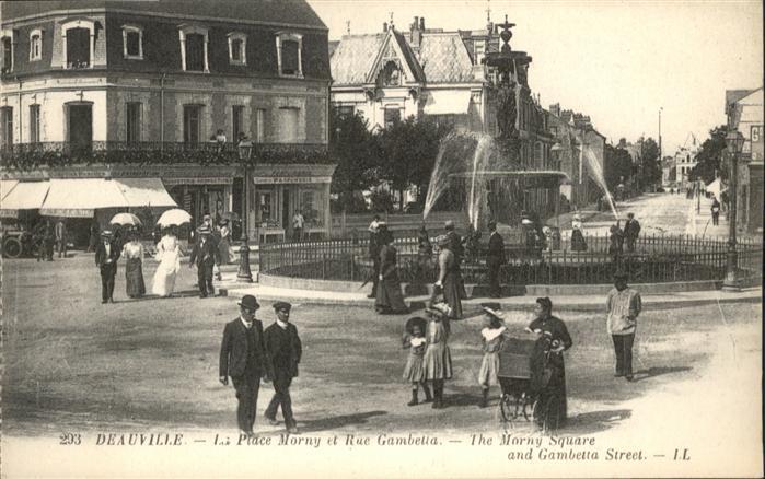 Deauville Place Morny Rue Gambetta *