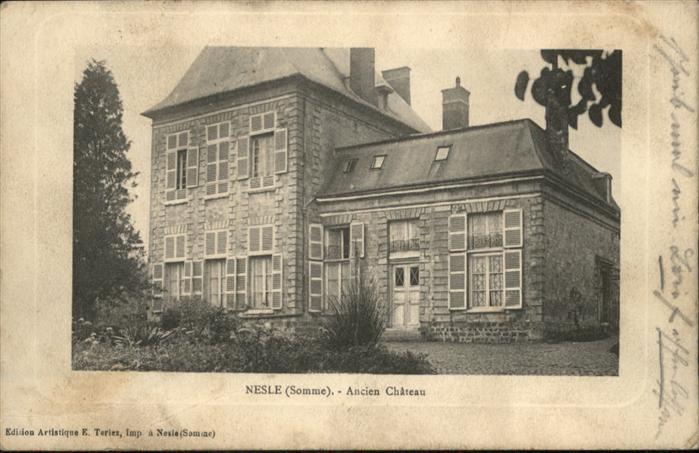 Nesle Somme Chateau x / Nesle /Arrond. de Peronne