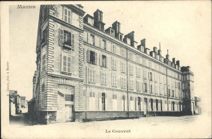 wb19607 Mantes-sur-Seine Couvent Kategorie. Mantes-la-Jolie Alte Ansichtskarten