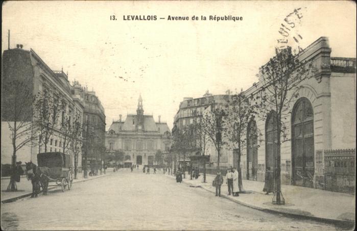 wb20479 Levallois-Perret Avenue de la Republique Kategorie. Levallois-Perret Alte Ansichtskarten