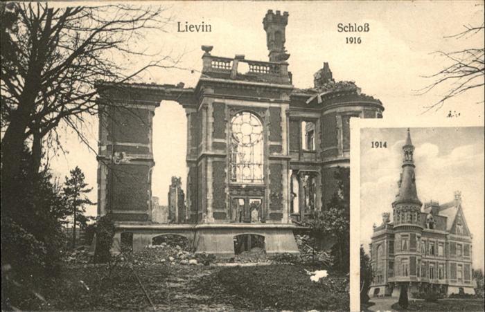 Lievin Schloss 1916 / Lievin /Arrond. de Lens