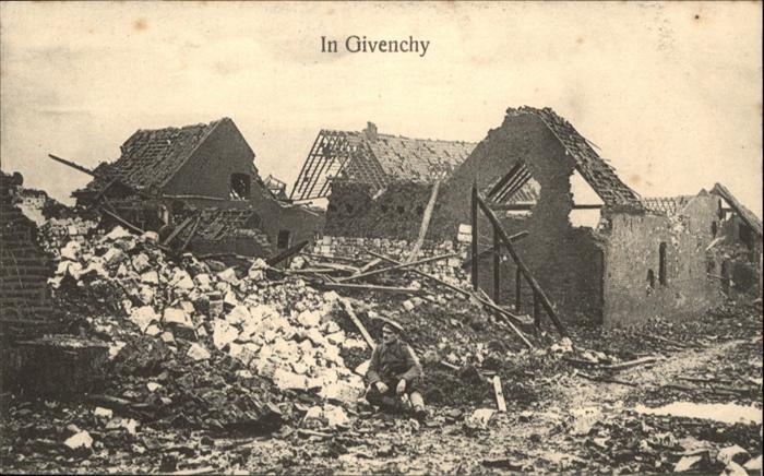 Givenchy-en-Gohelle nach Bombardement / Givenchy-en-Gohelle /Arrond. d Arras