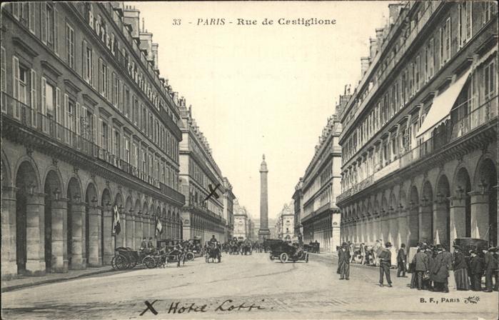 Paris Rue de Castiglione / Paris /Arrond. de Paris