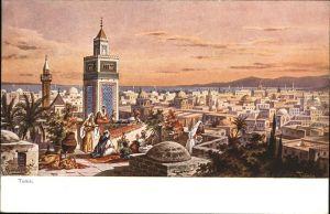 Tunis Kuenstler F Perlberg / Tunis /