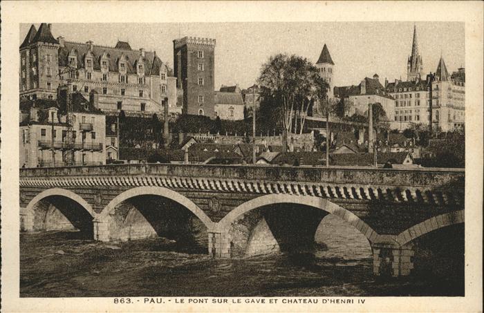 Pau Chateau d Henri IV / Pau /Arrond. de Pau