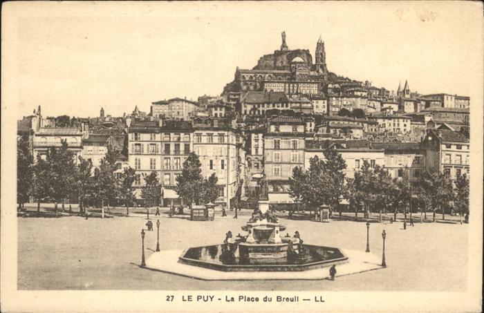 Le Puy-en-Velay La Place du Breuil / Le Puy-en-Velay /Arrond. du Puy
