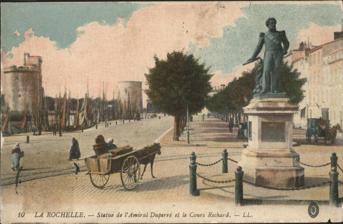 La Rochelle Charente-Maritime Statue de l Amiral Duperre Cours Richard / La Rochelle /Arrond. de La Rochelle