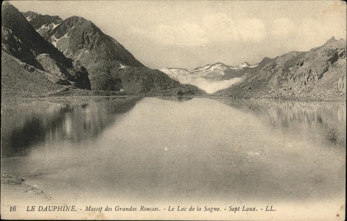 Les Sept Laux Le Dauphine Massif des Grandes Rousses Lac de la Sagne / Allevard les Bains Isere /Arrond. de Grenoble