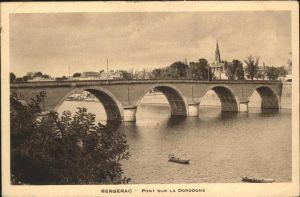 Bergerac Pont Dordogne Schiff  / Bergerac /Arrond. de Bergerac