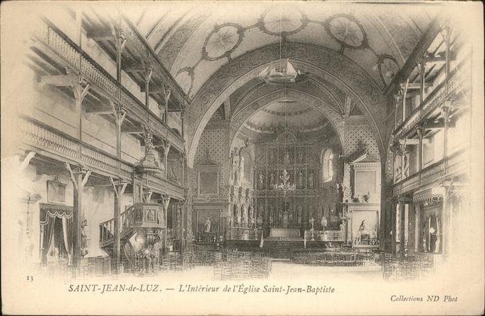 Saint-Jean-de-Luz Eglise Saint Jean Baptiste / Saint-Jean-de-Luz /Arrond. de Bayonne