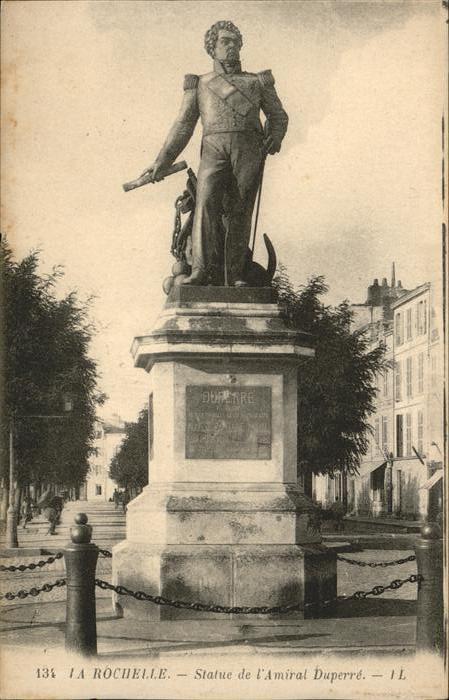 La Rochelle Charente-Maritime Statue L'Amiral Duperre / La Rochelle /Arrond. de La Rochelle