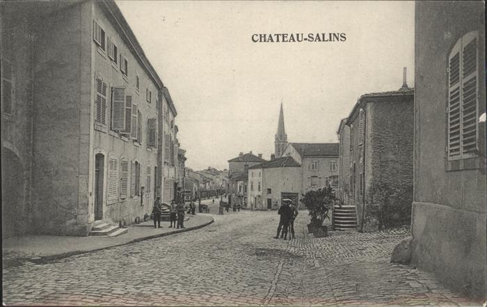 Chateau-Salins Teilansicht Dorfstrasse / Chateau-Salins /Arrond. de Chateau-Salins