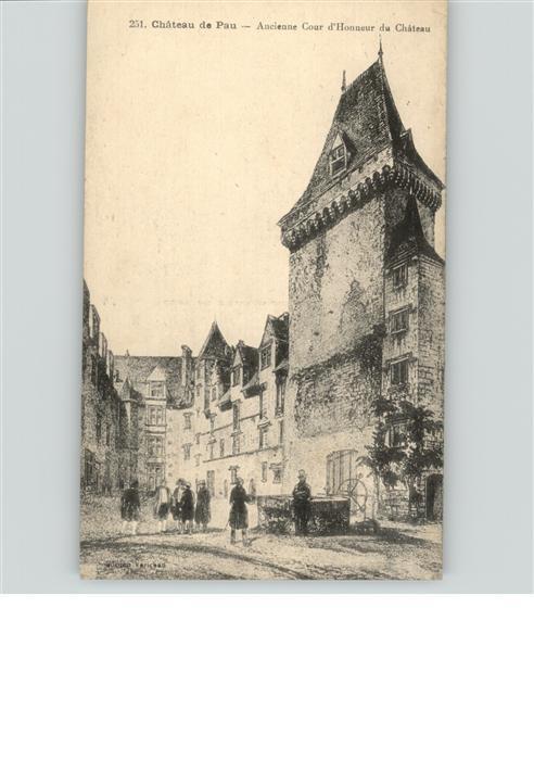 Pau Chateau Ancien Cour d`Honneur du Chateau / Pau /Arrond. de Pau